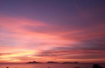 puesta de sol en vigo