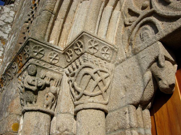 Detalles de la iglesia de Trasalba