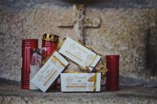 Pecados (Bombóns) de Albariño, Licor Café e Moras.